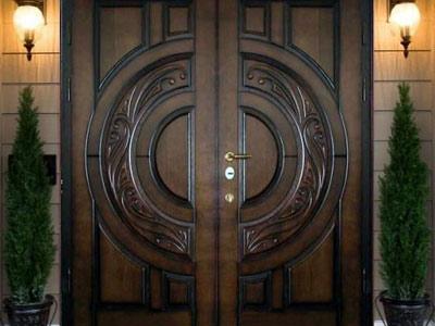 Двойные металлические двери