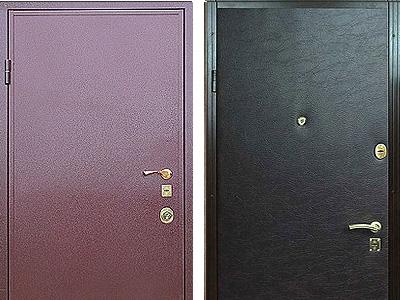 Входные двери с пластиковым покрытием