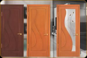 Входные двери шпонированные