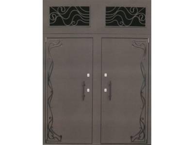 Стальные двери с фрамугой